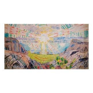 The Sun by Edvard Munch Poster
