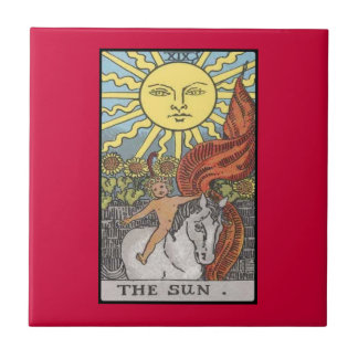The Sun card tarot image Ceramic Tile