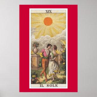 The Sun Classic Tarot Il Sole Poster