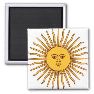 THE SUN del ~~ de MAYO (solenoide De Mayo) Imán Cuadrado