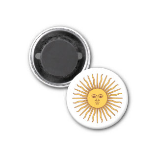 THE SUN del ~ de MAYO (solenoide De Mayo) Imán Redondo 3 Cm