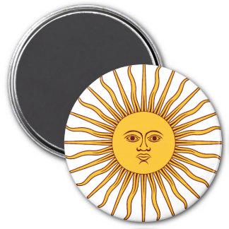 THE SUN del ~~ de MAYO (solenoide De Mayo) Imán Redondo 7 Cm