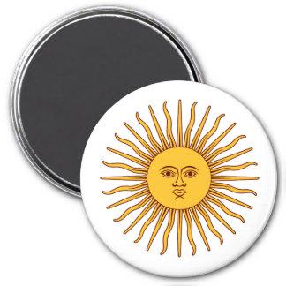 THE SUN del ~ de MAYO (solenoide De Mayo) Imán Redondo 7 Cm