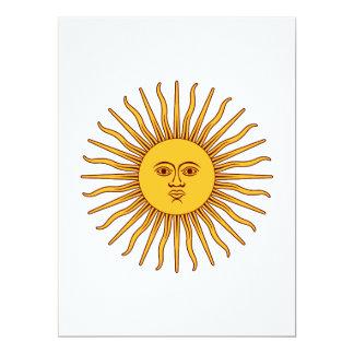 """THE SUN del ~ de MAYO (solenoide De Mayo) Invitación 6.5"""" X 8.75"""""""