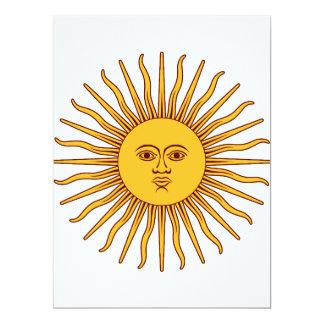 """THE SUN del ~~ de MAYO (solenoide De Mayo) Invitación 6.5"""" X 8.75"""""""