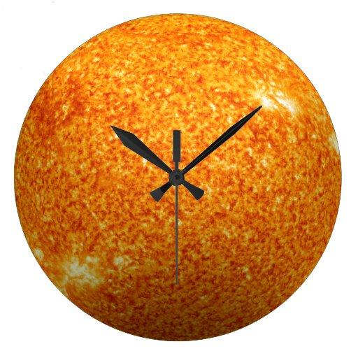 The Sun - efecto 3D Reloj Redondo Grande