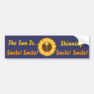 The Sun es Shinning-Personalizar Etiqueta De Parachoque