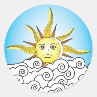 THE SUN ETIQUETA REDONDA