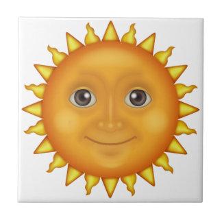 The Sun Face - Emoji Ceramic Tile