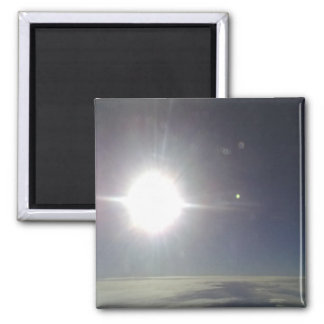 The sun from a air plain 2 inch square magnet