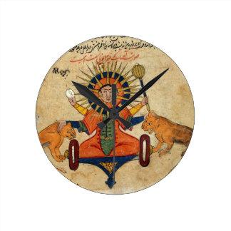 The Sun from Persian Manuscript 373 Round Clock