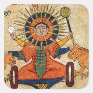 The Sun from Persian Manuscript 373 Square Sticker