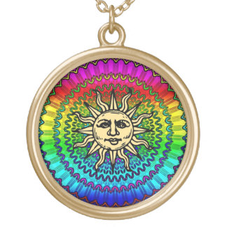 The Sun God on Colors of THe Sun Gold Plated Necklace