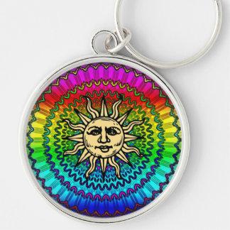 The Sun God on Colors of THe Sun Keychain
