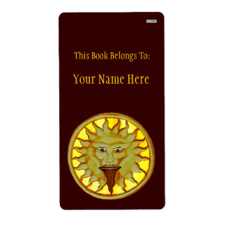 The Sun God (Ra) (Bookplate) Label
