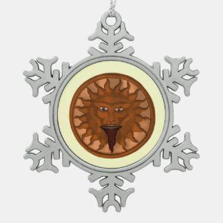 The Sun God (Ra) (Bronze) Snowflake Pewter Christmas Ornament