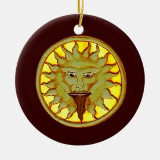 The Sun God (Ra) Ceramic Ornament