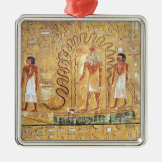 The sun god Ra in his solar barque Metal Ornament