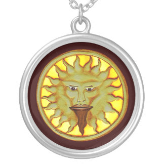 The Sun God (Ra) Silver Plated Necklace