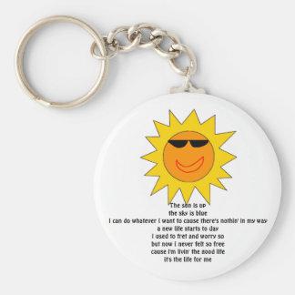 the sun is keychain