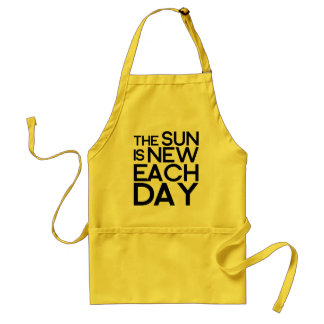 the sun is new each day,heracletus adult apron