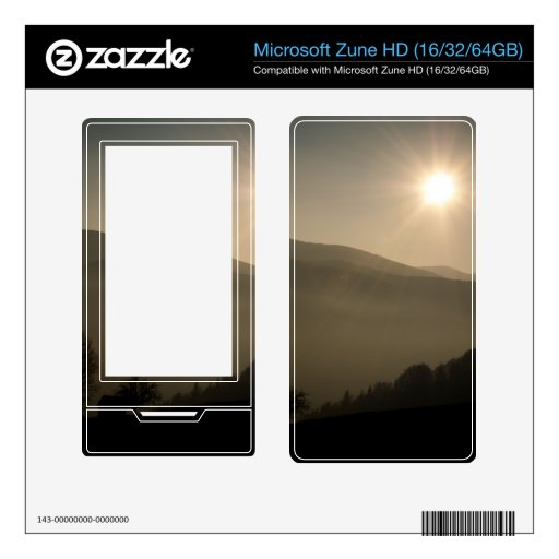 The sun is shining decals for the zune HD