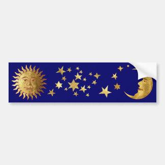 The Sun, las estrellas, la luna Pegatina De Parachoque