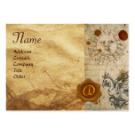 THE SUN ,MOON AND BASILISK BROWN WAX SEAL Monogram Business Card