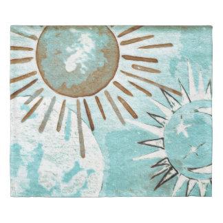 The Sun, Moon and Stars Duvet Cover