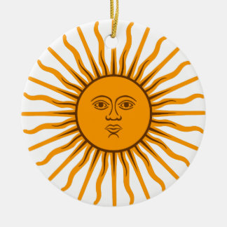 The Sun of May Ceramic Ornament