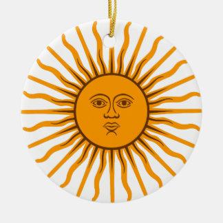 The Sun of May Ceramic Ornament