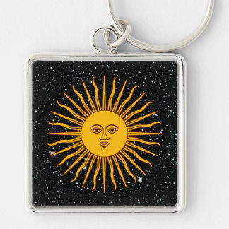 THE SUN OF MAY (Sol De Mayo) space theme ~ Keychain