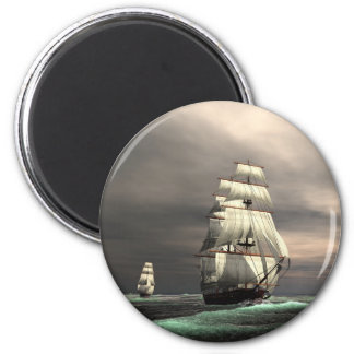 The Sun on the Sails 2 Inch Round Magnet