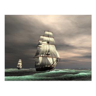 The sun on the Sails Postcard