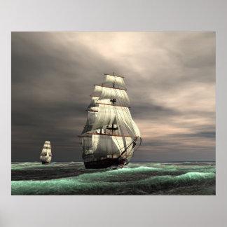 The sun on the Sails Print