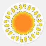 The Sun Pegatina Redonda