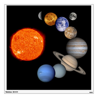 The Sun & Planets Of Our Solar System Wall Decal