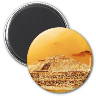The Sun Pyramid Mexico Magnet