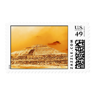 The Sun Pyramid Mexico Stamps