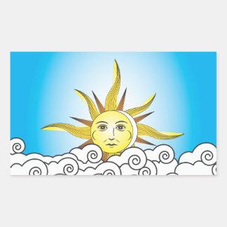 THE SUN RECTANGLE STICKER