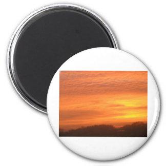 The Sun Rises in Roxbury, MA 2 Inch Round Magnet