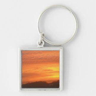 The Sun Rises in Roxbury, MA Keychain