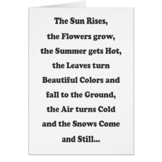 The Sun Rises - Message Inside Greeting Card