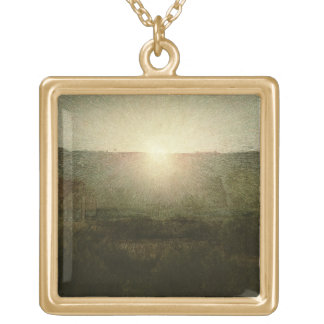 The Sun (Rising Sun) 1904 (oil on canvas) Gold Plated Necklace