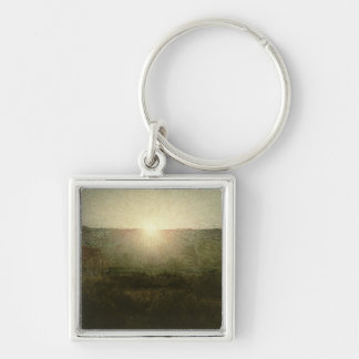 The Sun (Rising Sun) 1904 (oil on canvas) Silver-Colored Square Keychain