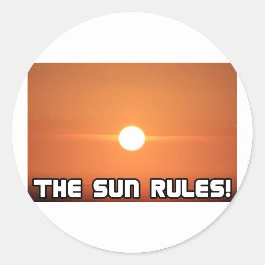 The Sun Rules! 3 Classic Round Sticker