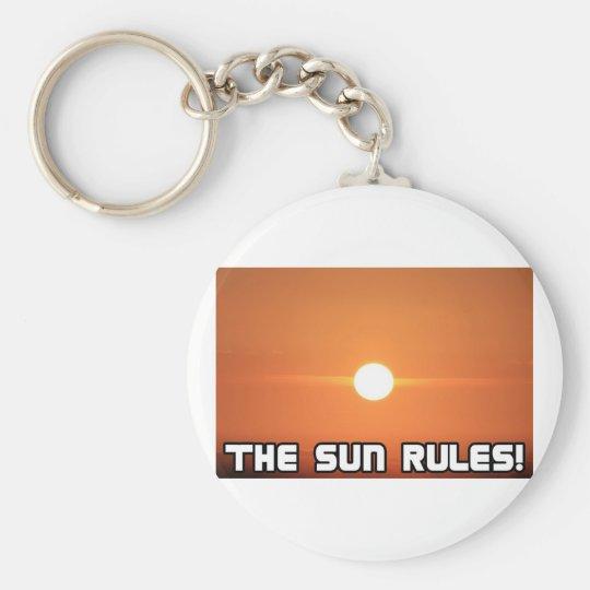 The Sun Rules! 3 Keychain