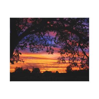 The Sun Set For Mike Wrapped Canvas Canvas Print