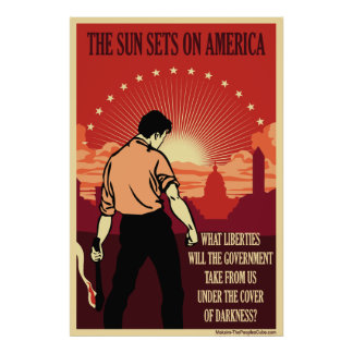 The Sun Sets On America Poster