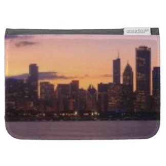 The sun sets over the Chicago skyline Kindle Keyboard Cases